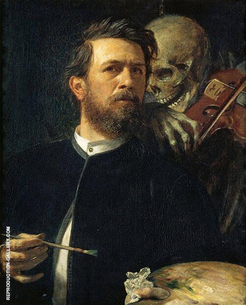 Self Portrait 1872 By Arnold Brocklin
