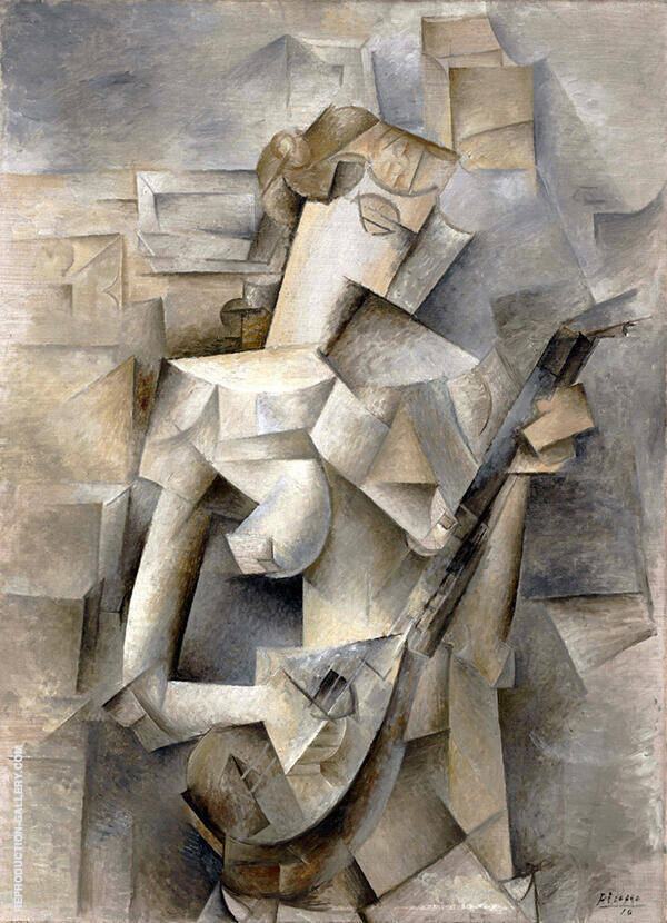 Girl with Mandolin 1910 By Pablo Picasso