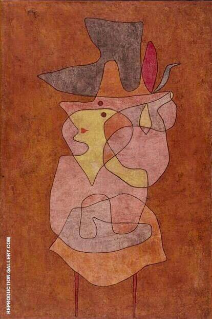 Domon Lady 1935 By Paul Klee