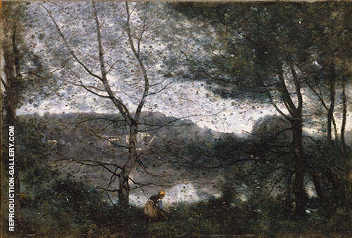 In the Garden at the Ville d'Avray 1870 By Jean-baptiste Corot