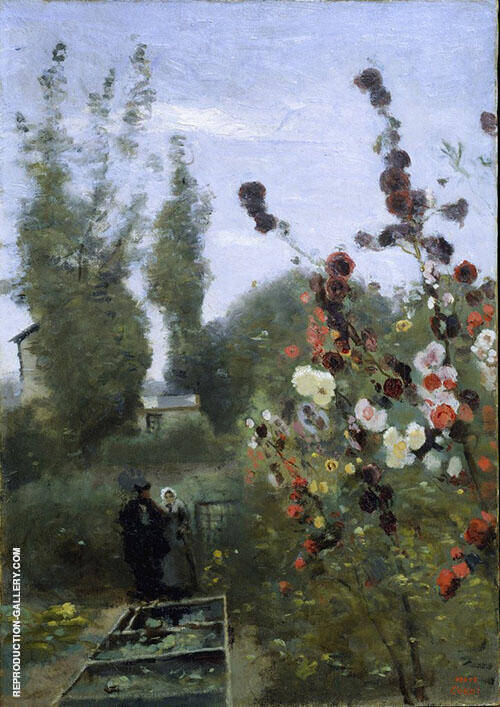 In the Garden at the Ville d'Avray c1845 By Jean-baptiste Corot