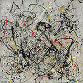 Number 18 1950 By Jackson Pollock (Inspired By)