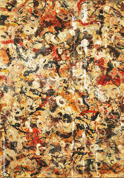 Untitled White By Jackson Pollock