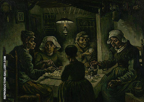 The Potato Eaters 1885 Painting By Vincent van Gogh - Reproduction Gallery