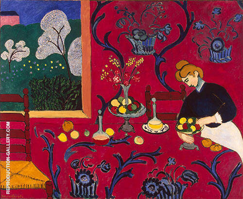 Red Room (Harmony in Red) 1908 By Henri Matisse