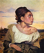 Orphan Girl at the Cemetery 1823 By Eugene Delacroix