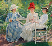Three Sisters Study in Sunlight 1890 By Edmund C Tarbell