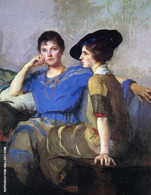 The Sisters 1921 By Edmund C Tarbell