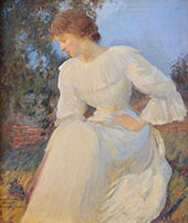 Portrait of a Woman in White By Edmund C Tarbell