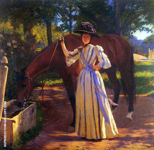 Girl and Horse 1892 By Edmund C Tarbell