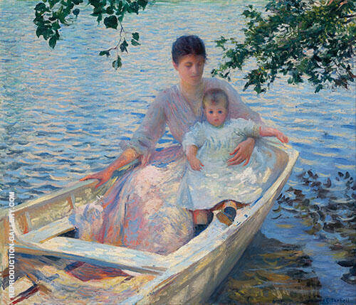 Mother and Child in a Boat-1892 By Edmund C Tarbell