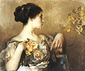 Lady with a Corsage 1911 By Edmund C Tarbell