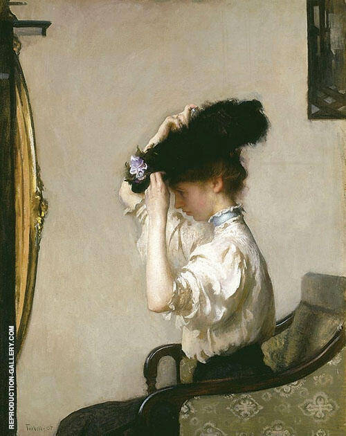 Preparing for the Matinee 1907 By Edmund C Tarbell