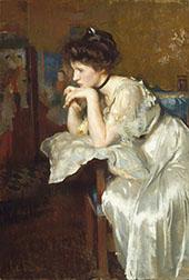 Reverie (Katharine Finn) By Edmund C Tarbell