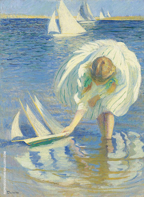 Child and Boat 1899 By Edmund C Tarbell