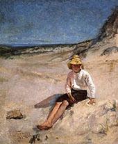 Boy on the Beach 1885 By Edmund C Tarbell