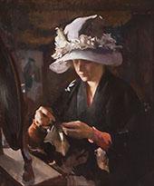 Women Mending a Glove By Edmund C Tarbell