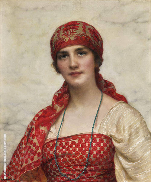 The Emerald Necklace 1921 Painting By William Clarke Wontner