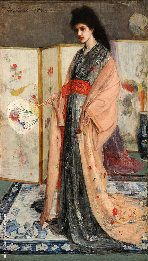 The Princess from the Land of Porcelain Painting By James McNeill Whistler