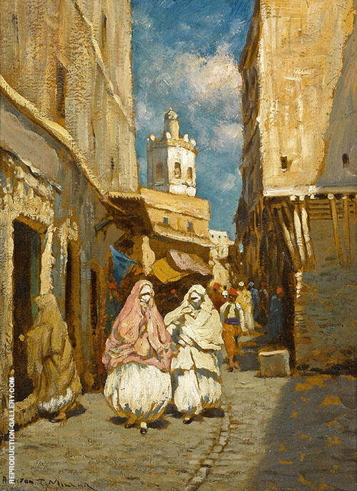 Rue Koleher Algeria Painting By Addison Thomas Millar