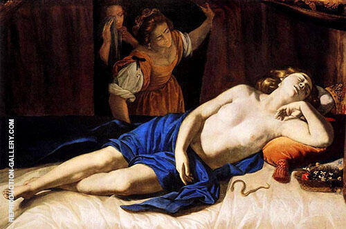 Cleopatra 1633 Painting By Artemisia Gentileschi - Reproduction Gallery