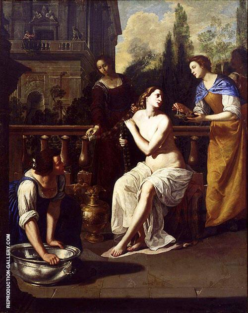 David and Bathsheba Painting By Artemisia Gentileschi