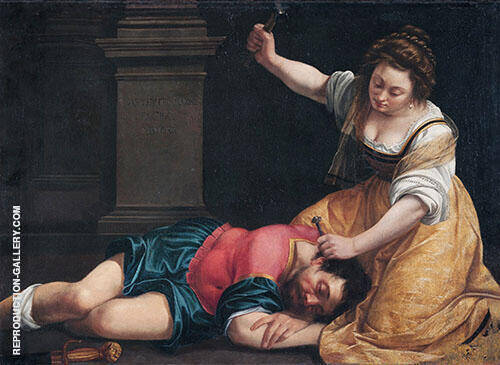 Jael and Sisera 1620 Painting By Artemisia Gentileschi