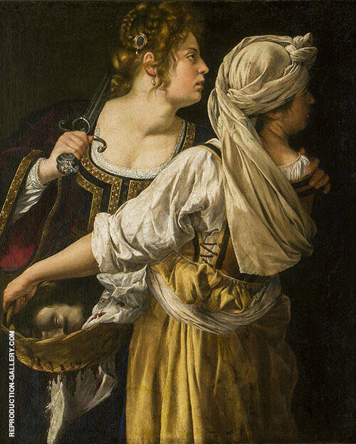 Judith and her Maidservant 1613 Painting By Artemisia Gentileschi