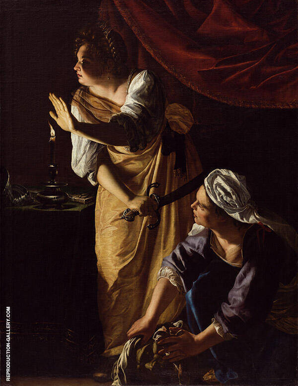Judith and her Maidservant 1625 Painting By Artemisia Gentileschi