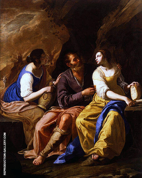 Lot and his Daughters 1635 By Artemisia Gentileschi