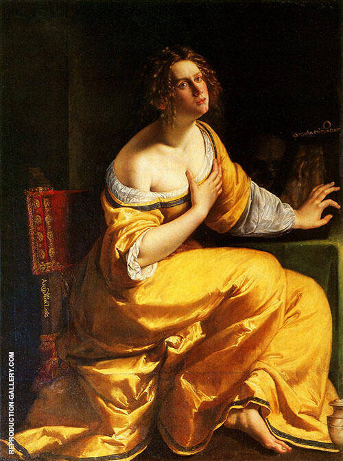 Mary Magdalene Painting By Artemisia Gentileschi - Reproduction Gallery