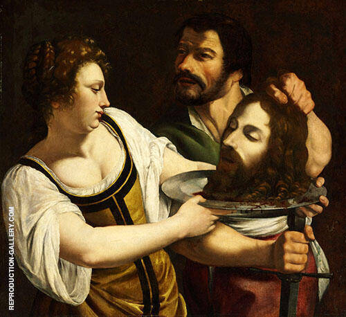 Salome with The Head of Saint John The Baptist 1610 By Artemisia Gentileschi