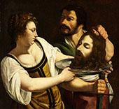 Salome with The Head of Saint John The Baptist 1610 By Artemisia Gentileschi
