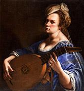 Self Portrait as a Lute Player 1615 By Artemisia Gentileschi