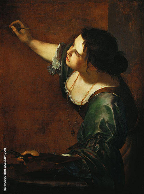 Self Portrait as The Allegory of Painting 1638 By Artemisia Gentileschi