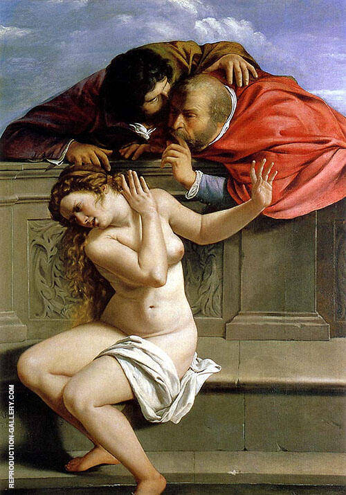 Susanna and The Elders 1610 By Artemisia Gentileschi
