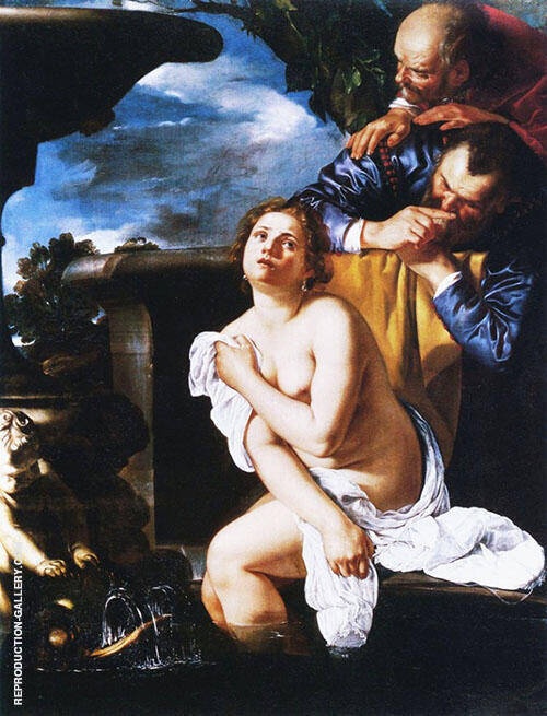 The Burghley 1662 Painting By Artemisia Gentileschi - Reproduction Gallery