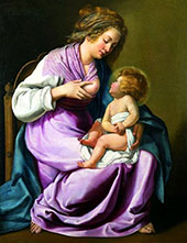 The Virgin Nursing The Child 1616 By Artemisia Gentileschi