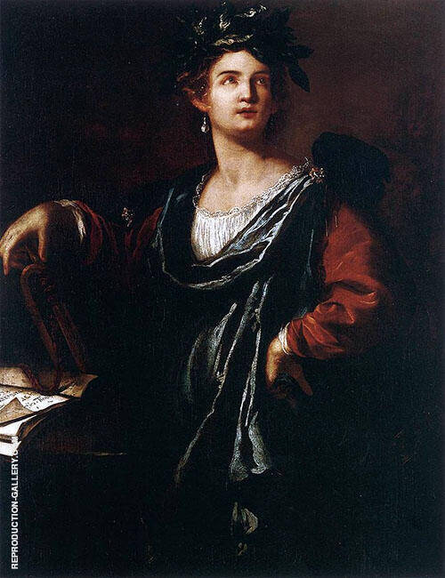 Clio 1632 Painting By Artemisia Gentileschi - Reproduction Gallery