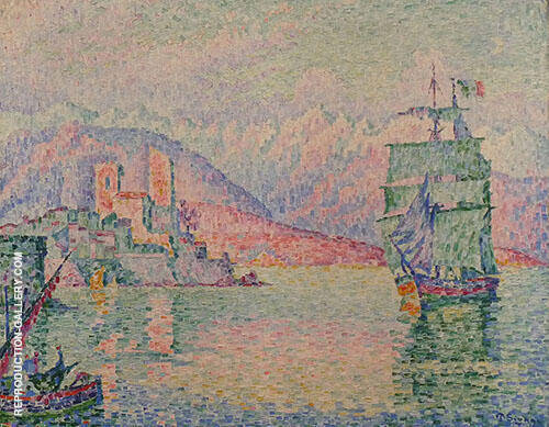 Antibes le Soir 1914 By Paul Signac