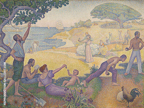 Au Temps d'Harmonie c1893 By Paul Signac