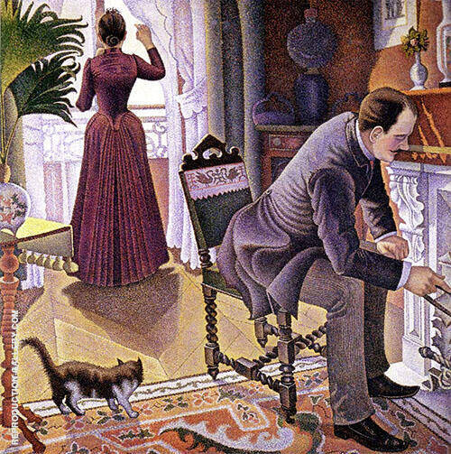 Dimanche Painting By Paul Signac - Reproduction Gallery