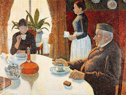 El Desayuno c1886 Painting By Paul Signac - Reproduction Gallery
