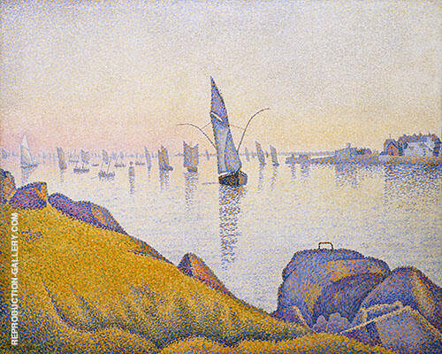Evening Calm Concarneau Opus220 1891 By Paul Signac