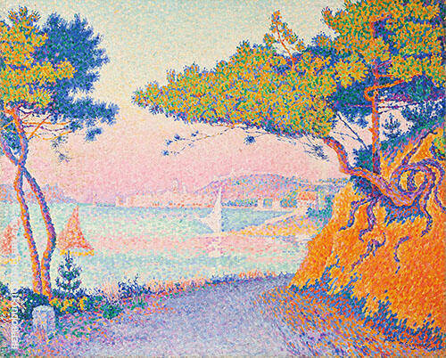 Golfe Juan c1896 By Paul Signac