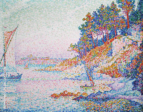 La Calanque The Bay 1906 Painting By Paul Signac - Reproduction Gallery