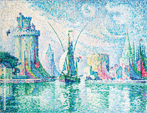 Les Tours Vertes La Rochelle Painting By Paul Signac