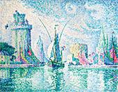 Les Tours Vertes La Rochelle By Paul Signac