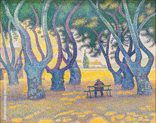 Place des Lices 1893 Painting By Paul Signac - Reproduction Gallery