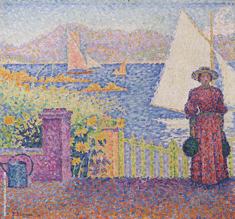 The Gate at Saint Tropez Painting By Paul Signac - Reproduction Gallery